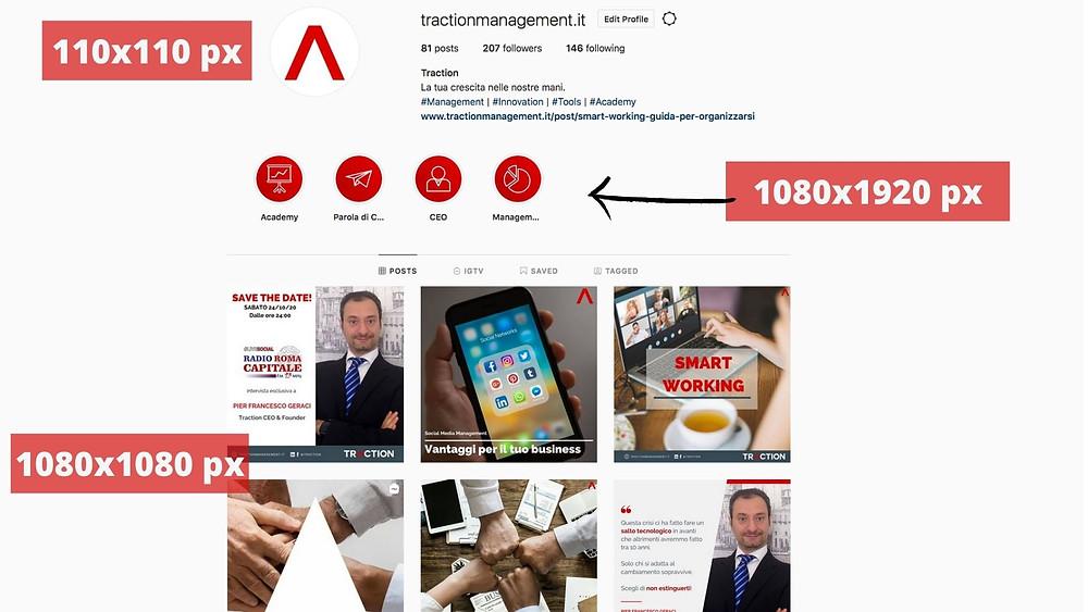 dimensioni immagini instagram