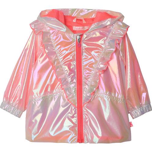 Manteau à capuche rose - Billieblush