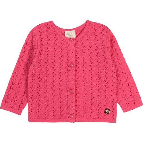 Cardigan en tricot rose fluo - Carrément beau