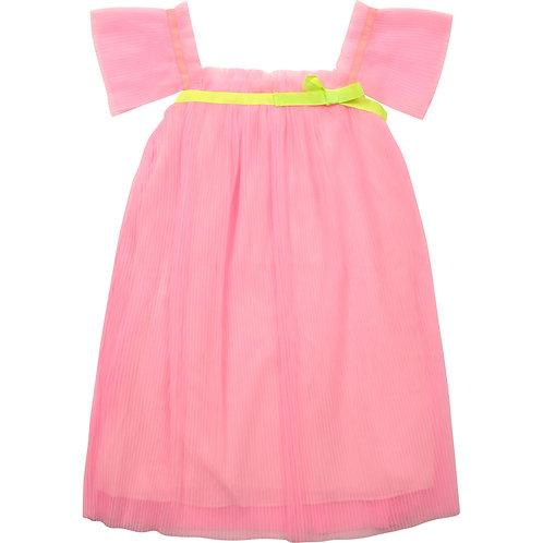 Robe de cérémonie en tulle plissé rose - Billieblush