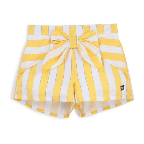 Short à rayure blanc et jaune - Carrément beau