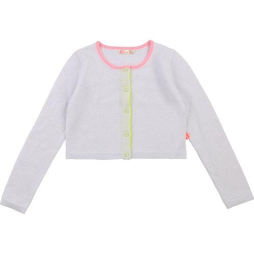 Cardigan en tricot blanc - Billieblush