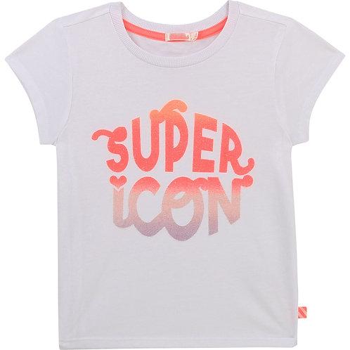 Haut à manches courtes avec inscription Super icon - Billieblush