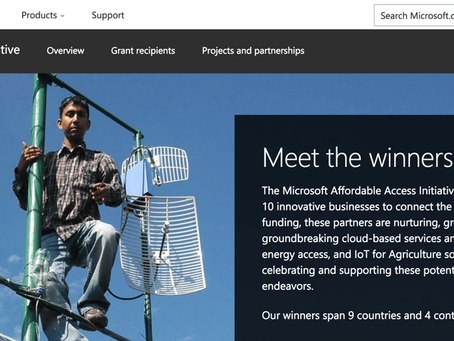 Microsoft to support Solaris Offgrid in bringing access to internet!
