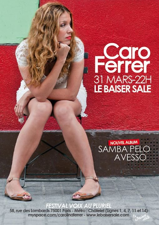SAMBA PELO AVESSO le 31 mars - 21h30 - FESTIVAL VOIX AU PLURIEL - LE BAISER SALE avec Ricardo Feija