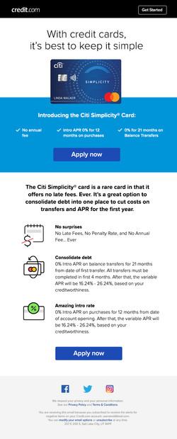 Citi Rewards email