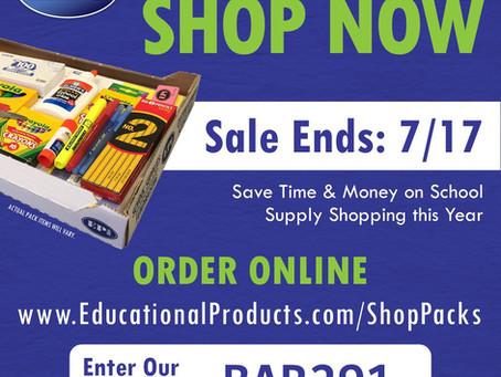 School Supply Sale!