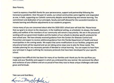 Letter from Superintendent 06/09