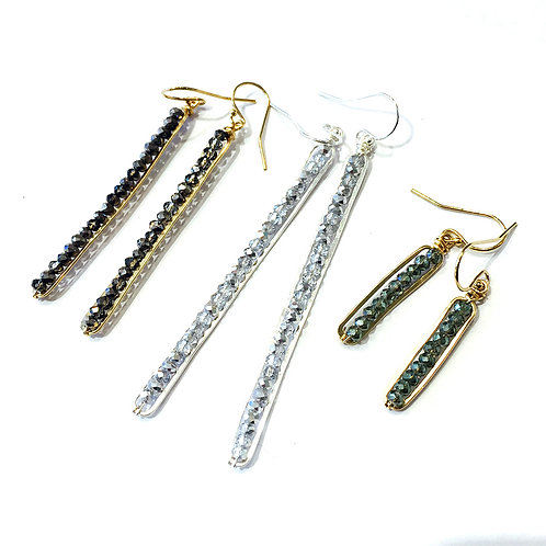 Caviar Stick Earrings