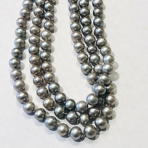 Grey Pearls w gem accents