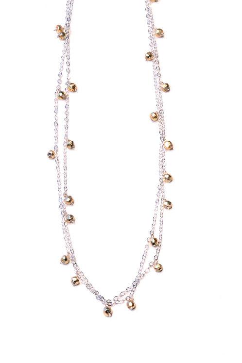 Long Chain Multi Gem Necklace