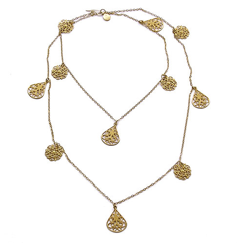 Long Chain Filigree Necklace