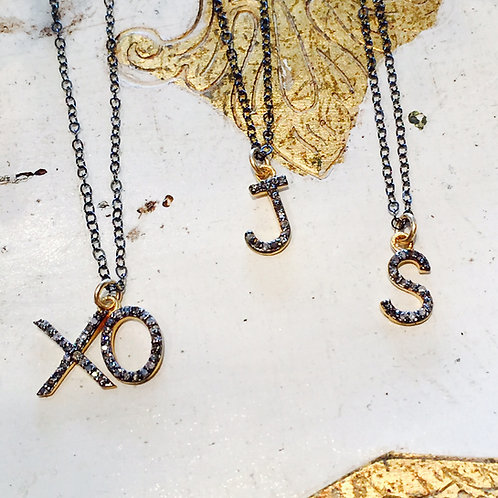Pave Diamond Love Letters