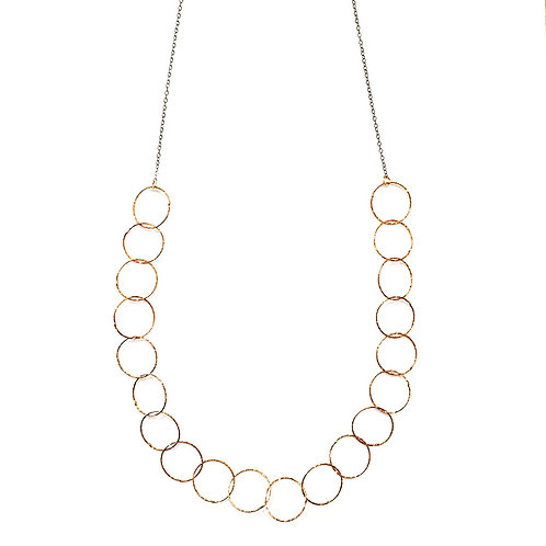 Half Bubbles Mid length Necklace