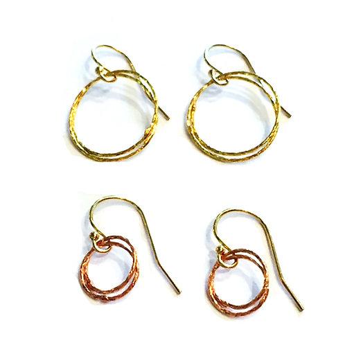 Sparkle Double Bubble Earrings