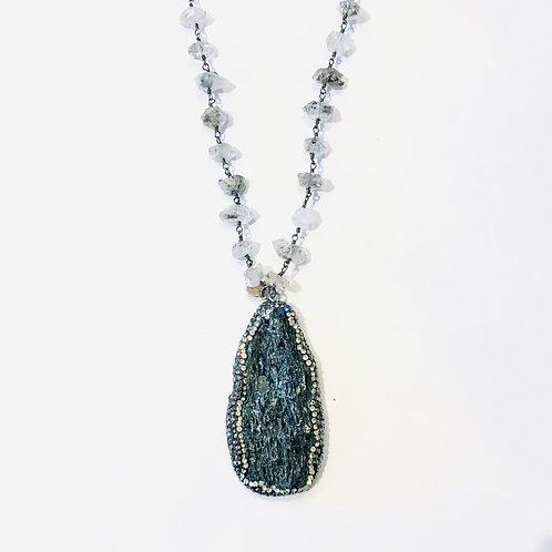 Herkimer Diamond w/ Lava Pendant