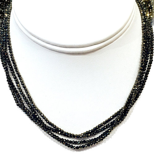 Extra Long multi faceted gem necklaces