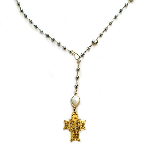 Cross Y Necklace