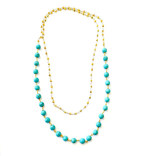 Long Turquoise Layering Necklace