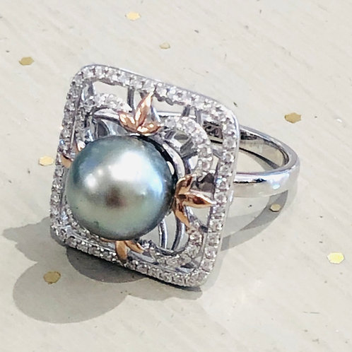 Tahitian Pearl Filigree Ring