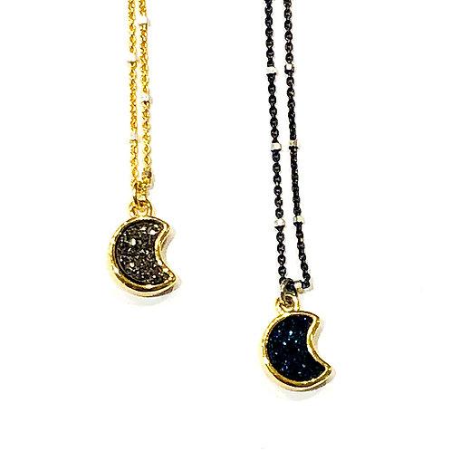 Moon Druzy Necklace