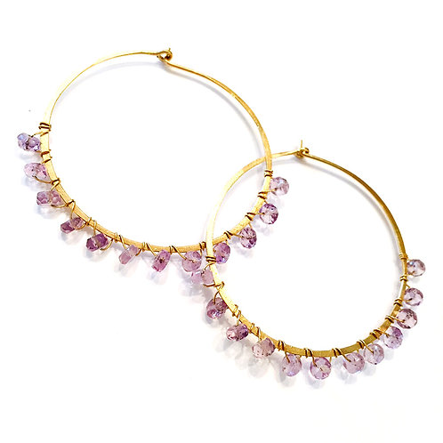 "1.5"" Hoops with Gems"