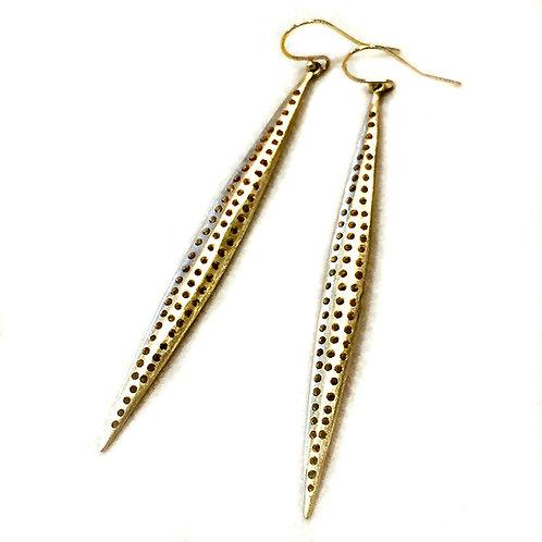 Gold Spear Earrings