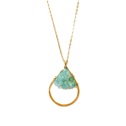 Teardrop Caviar Necklace