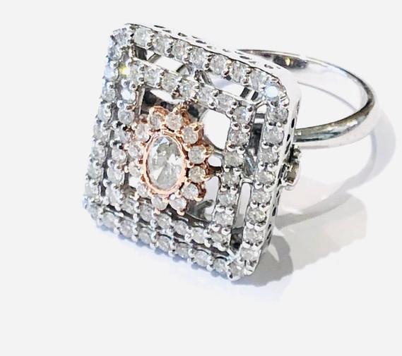 Pink Diamond Princess Ring