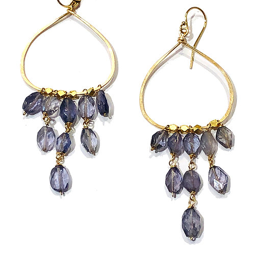 Teardrop Gem Chandelier Earrings