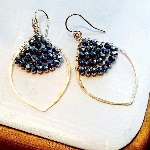 Moroccan Teardrop Caviar Earrings