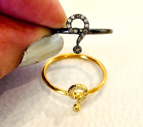 """Pave Diamond """"?"""" ring"""