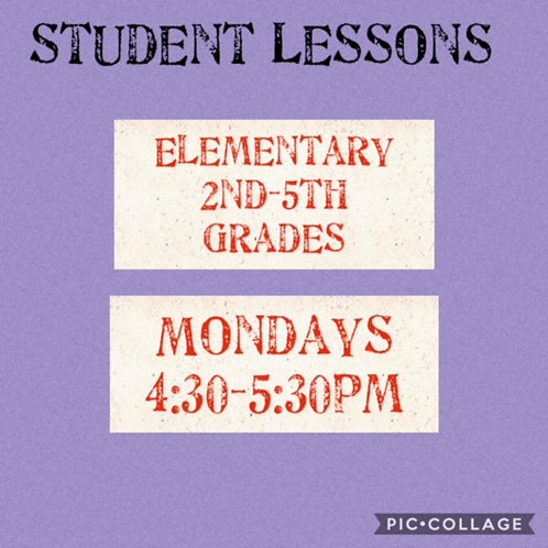 Elementary Small Group Art Lessons Grades, Mondays 4:30-5:30