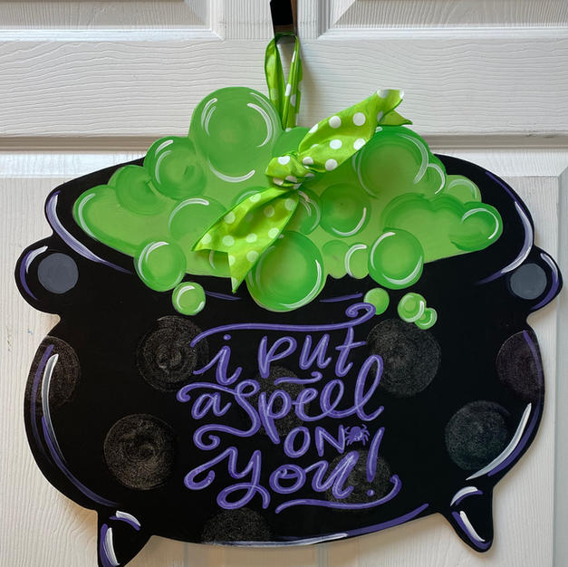 Witch's Cauldron Wood Cutout