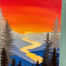 Mountain Sunset Canvas