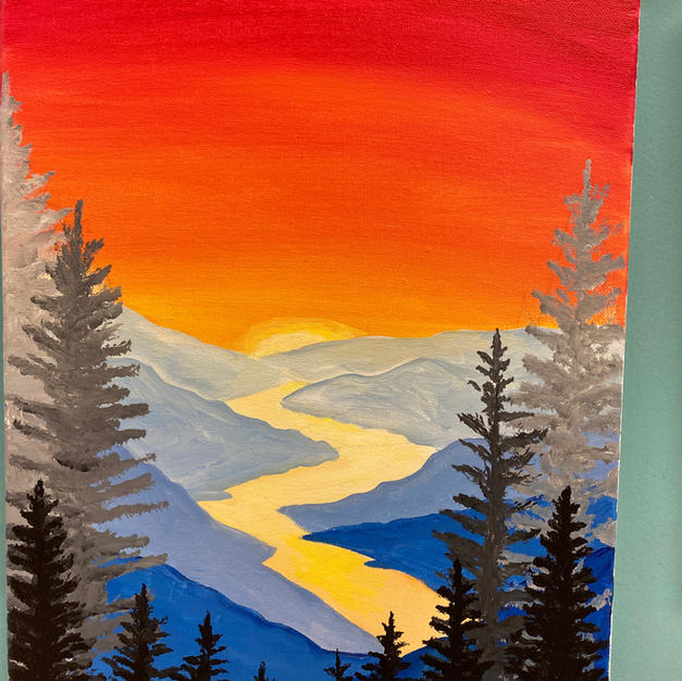 Mountain Sunset Canvas