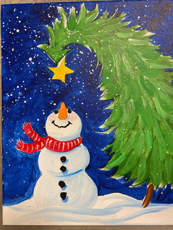 Snow Night Canvas
