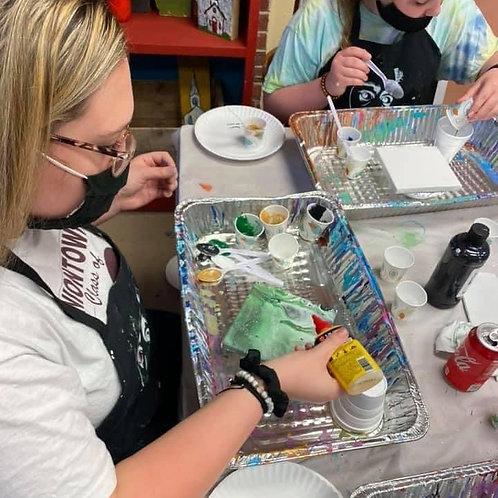 Saturday, June 19, 5:30pm Paint Pouring Class