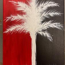 Carolina Tree Silhouette Canvas
