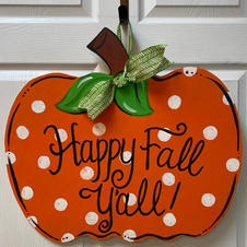 Happy Fall Pumpkin Wood Cutout