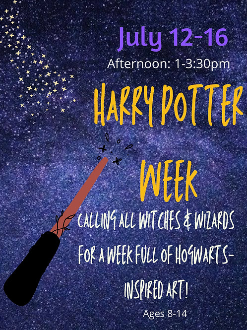 July 12-16th, Harry Potter Week, Afternoon 1-3:30
