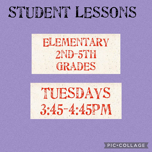 Elementary Small Group Art Lessons Grades, Tuesdays