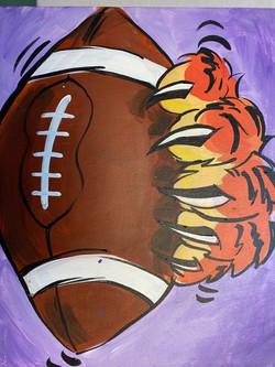 Tiger Football Canvas