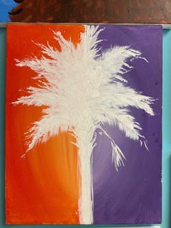 Clemson Palmetto Canvas