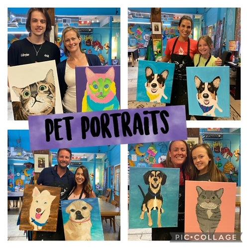 Thursday, September 23, Pet Portrait Painting Night! 6:30-8:30pm