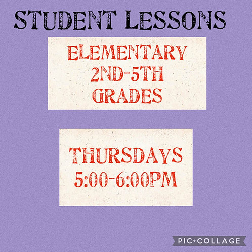 Elementary Small Group Lessons, Thursdays