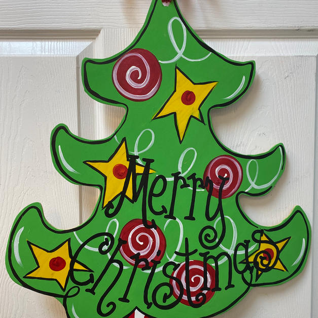 #52 Christmas Tree no Star Wood Cutout