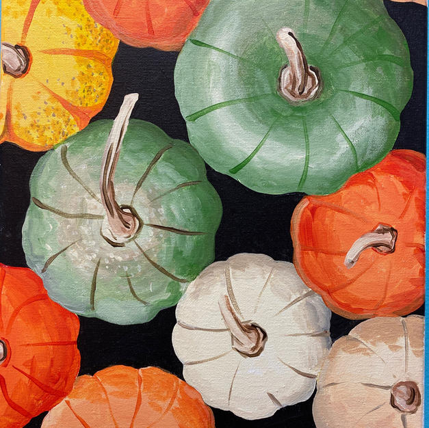 Realistic Gourds Canvas