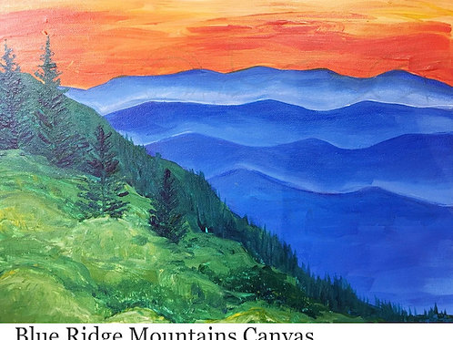 Friday, September 10 Blue Ridge Mountain Canvas, 6:30-8:30pm