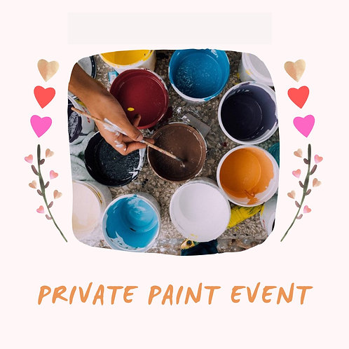 Saturday, August 7 Private Paint Event with Shaunnah L. 3-5pm